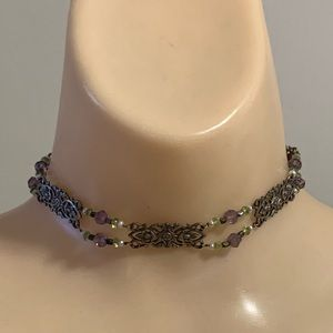 Vintage Sterling Silver Unique Design Necklace